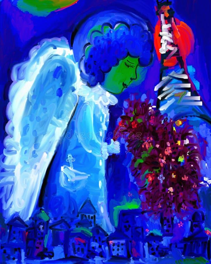 Ange à Paris illustration stock