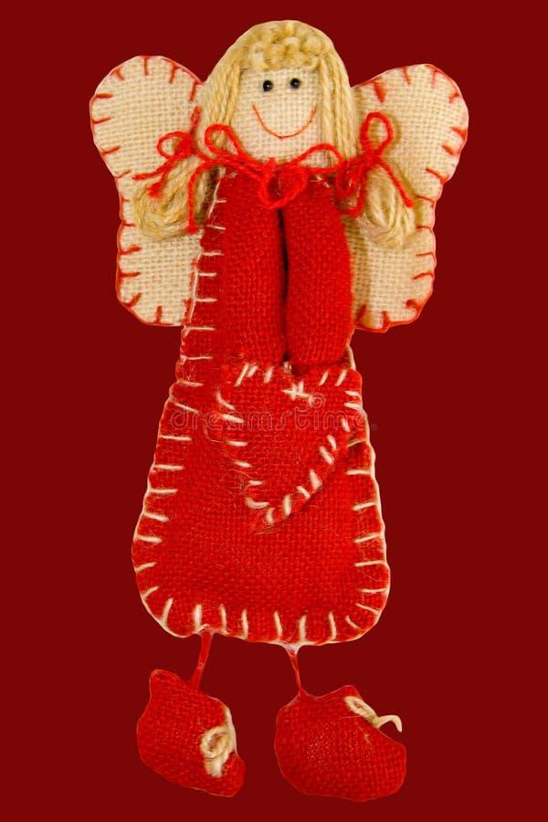Ange avec le coeur rouge photos libres de droits