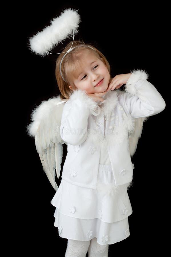 Ange blanc image stock