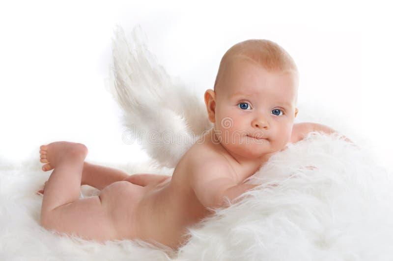 Ange dans des couches-culottes photos libres de droits