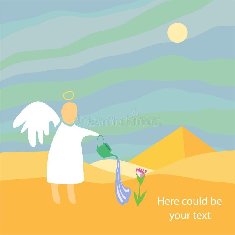 Ange dans desert.jpg illustration libre de droits