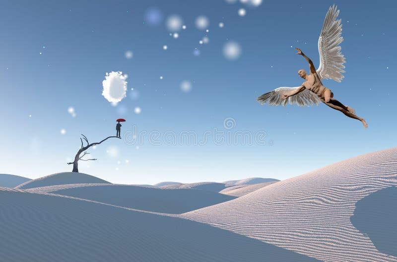 Ange de désert illustration de vecteur