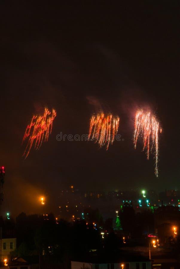 Ange de feux d'artifice photo libre de droits