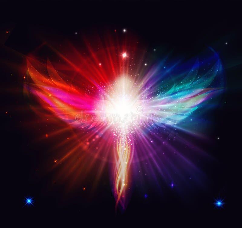 Ange de la lumi?re et de l'amour faisant un miracle illustration libre de droits