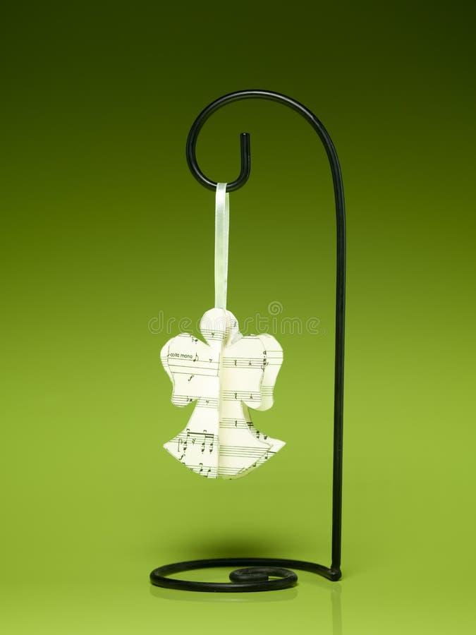 Ange de papier musical fait main images stock