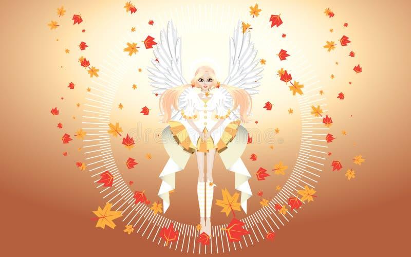 Ange de papier peint d'automne images stock