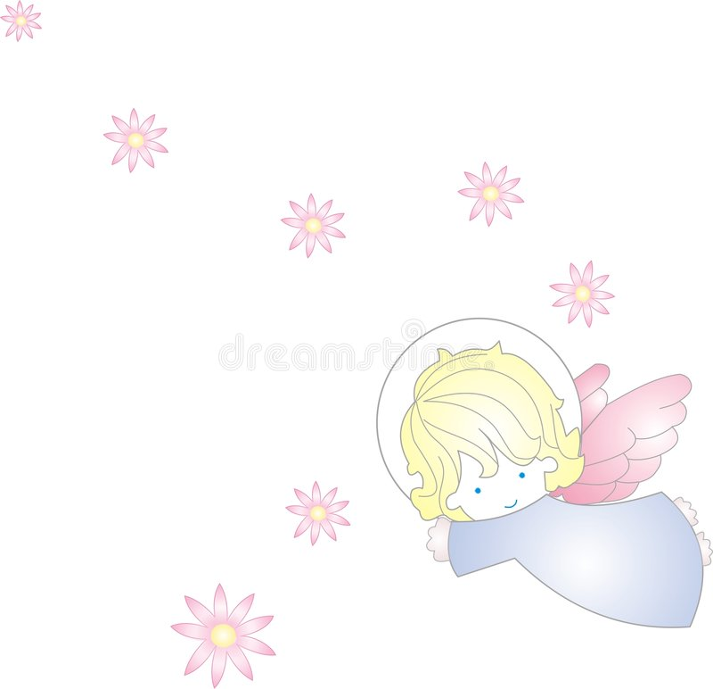 Ange doux illustration stock
