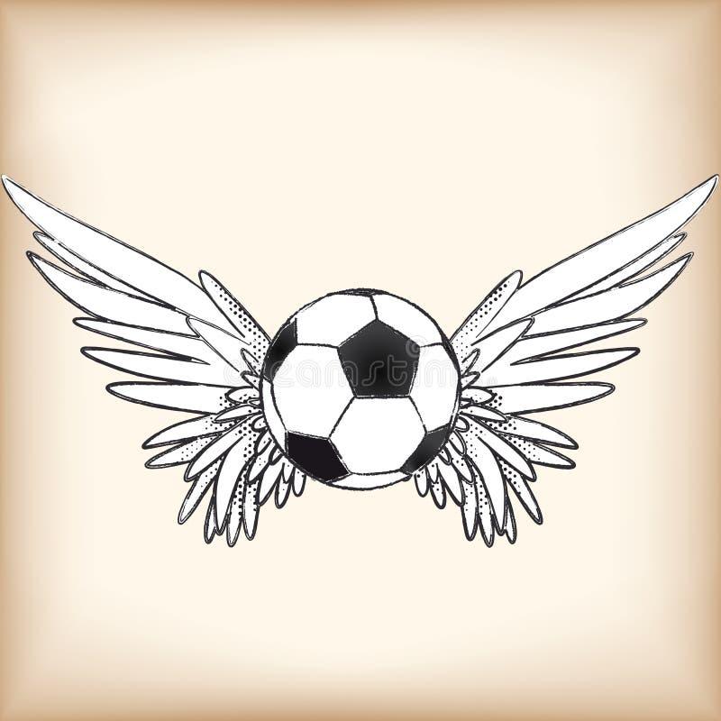 Ange du football illustration stock