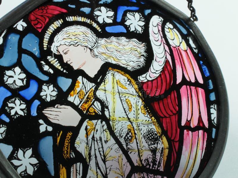 Ange en verre souillé photo libre de droits