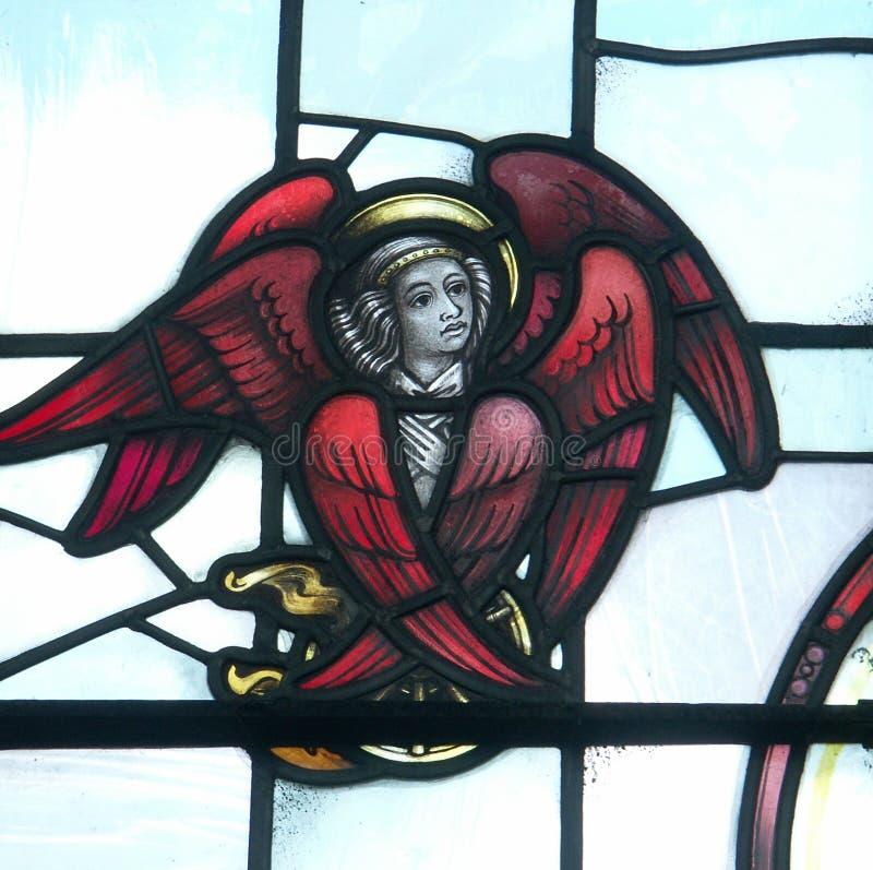 Ange en verre souillé image libre de droits