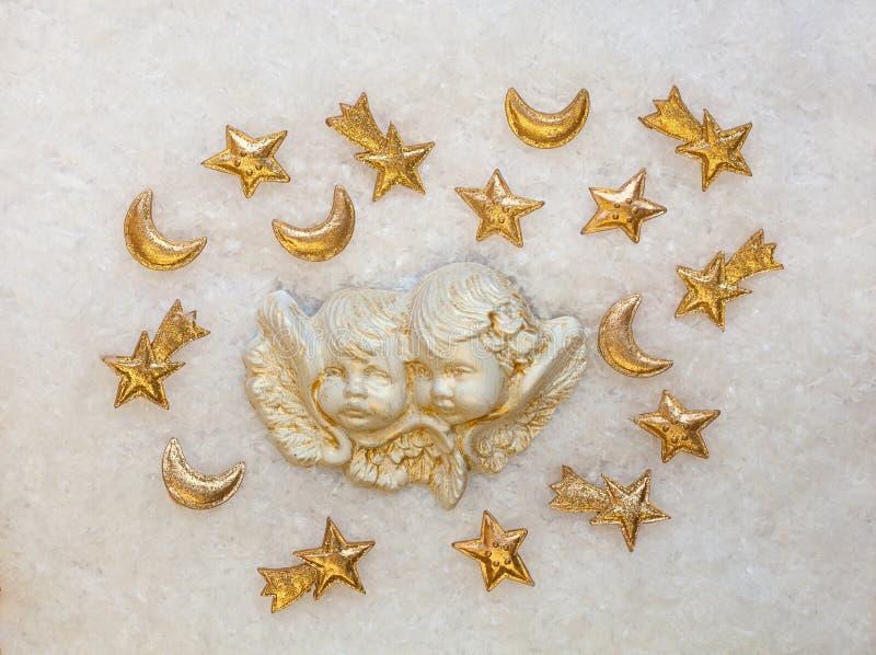 Ange et étoiles de Noël photo libre de droits