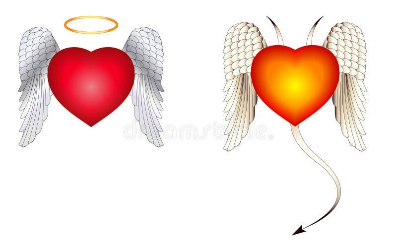Ange et ailes de diable illustration libre de droits
