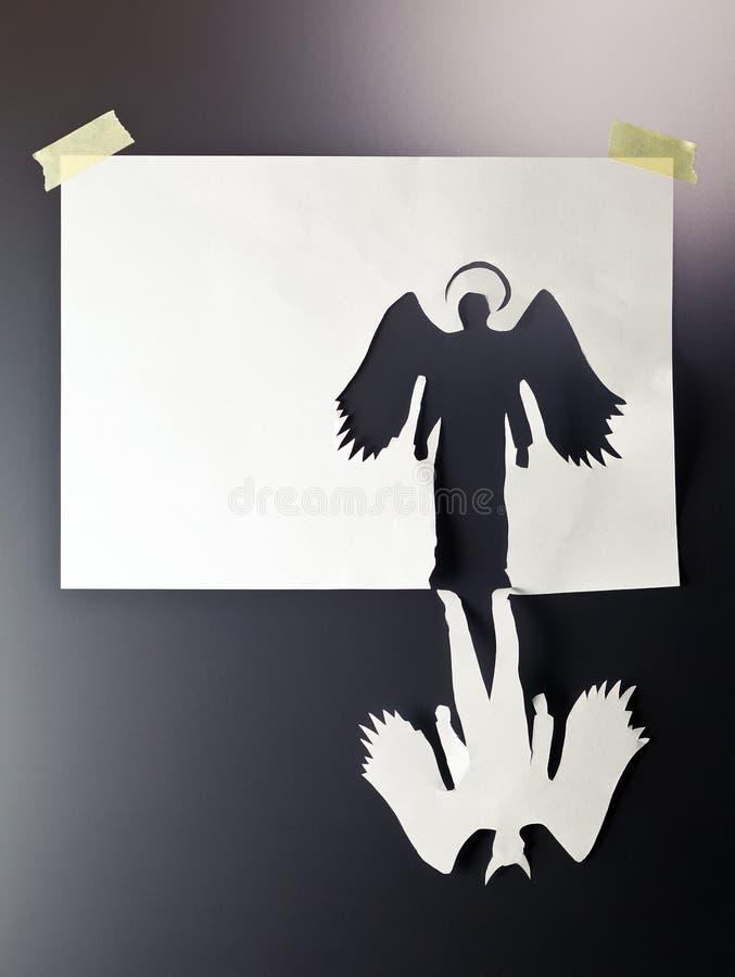 Ange et diable image libre de droits