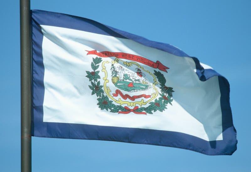 Ange flaggan av West Virginia fotografering för bildbyråer