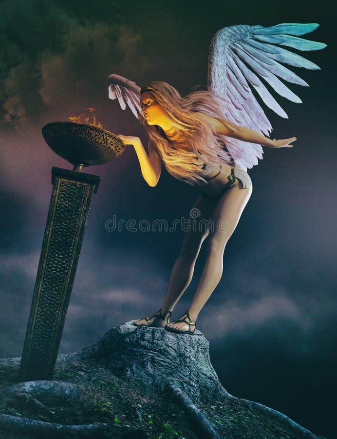 Ange gardien illustration libre de droits