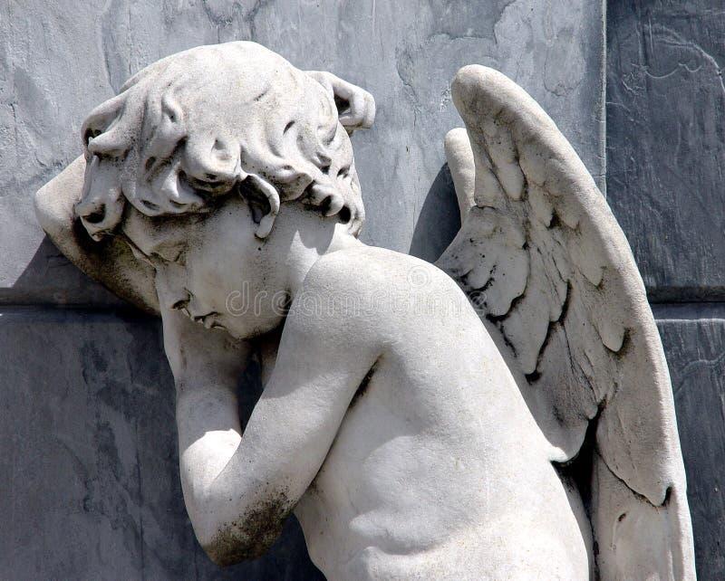Ange pleurant photos libres de droits
