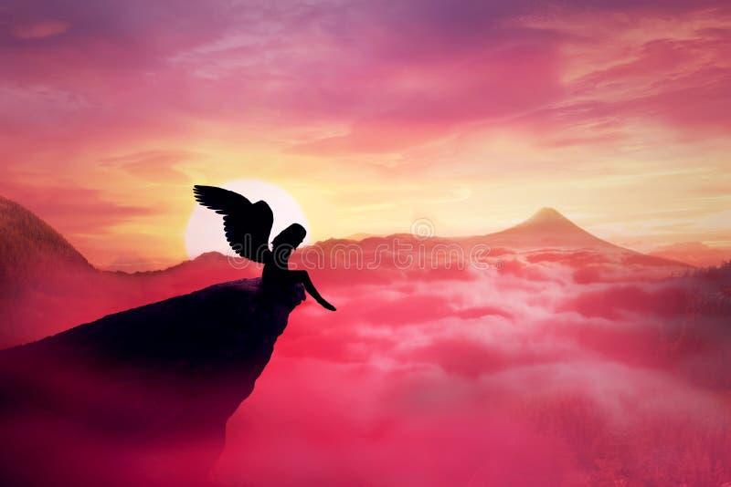 Ange tombé photo libre de droits