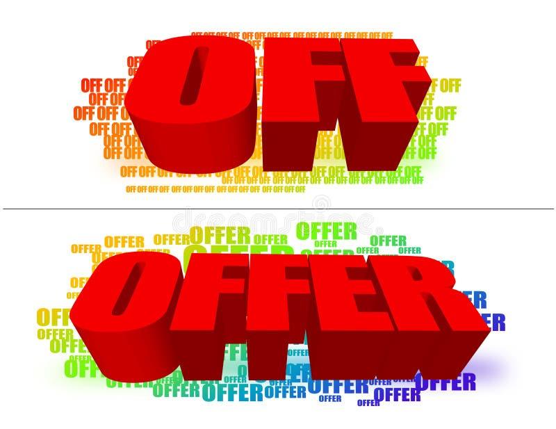 Angebot vektor abbildung