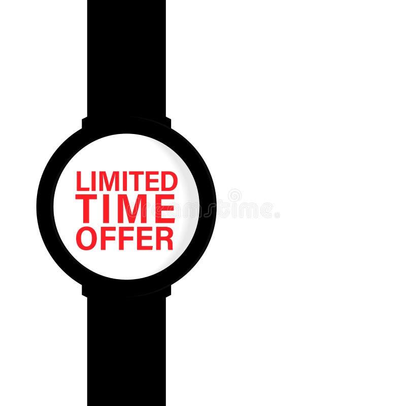 Angebot der begrenzten Zeit, Verkaufsrabattangebothintergrund mit Uhren auf backgroun und Textentwurf Moder-Konzept-Vektorillustr vektor abbildung