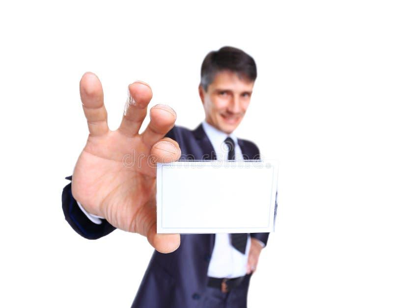 Angebotkarte des Geschäftsmannes lizenzfreie stockfotografie