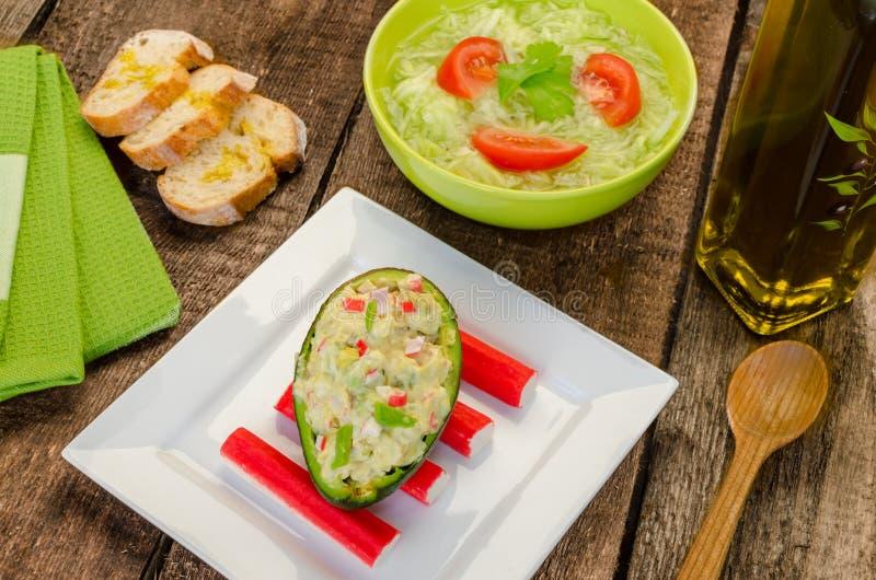 Angefüllte Avocado lizenzfreie stockfotos