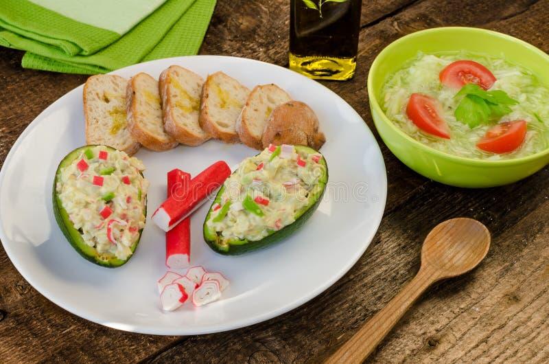 Angefüllte Avocado lizenzfreie stockfotografie