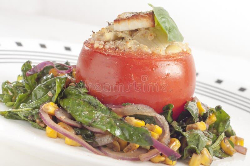 Angefüllte Tomaten stockfotografie