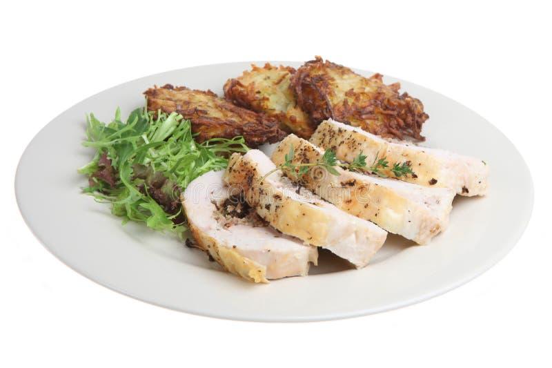 Angefülltes Hühnchen-Brust-Abendessen lizenzfreie stockfotografie
