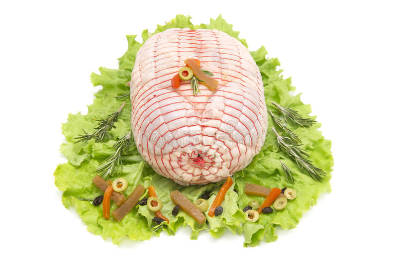 Angefülltes Huhn stockbilder