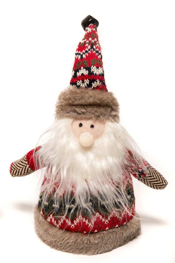 Angefülltes Santa Claus-Spielzeug stockfotos