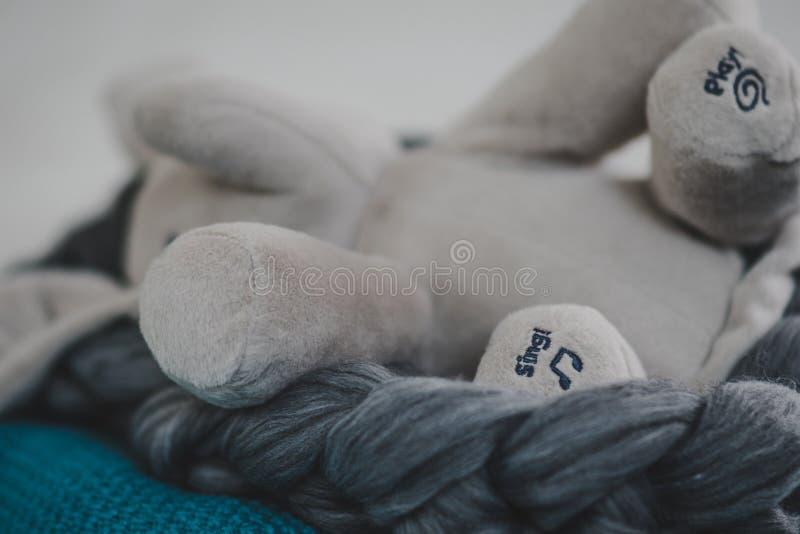 Angef?lltes Elefant-Spielzeug stockbild