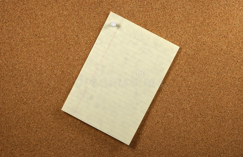 Angeheftetes Papier lizenzfreie stockfotografie