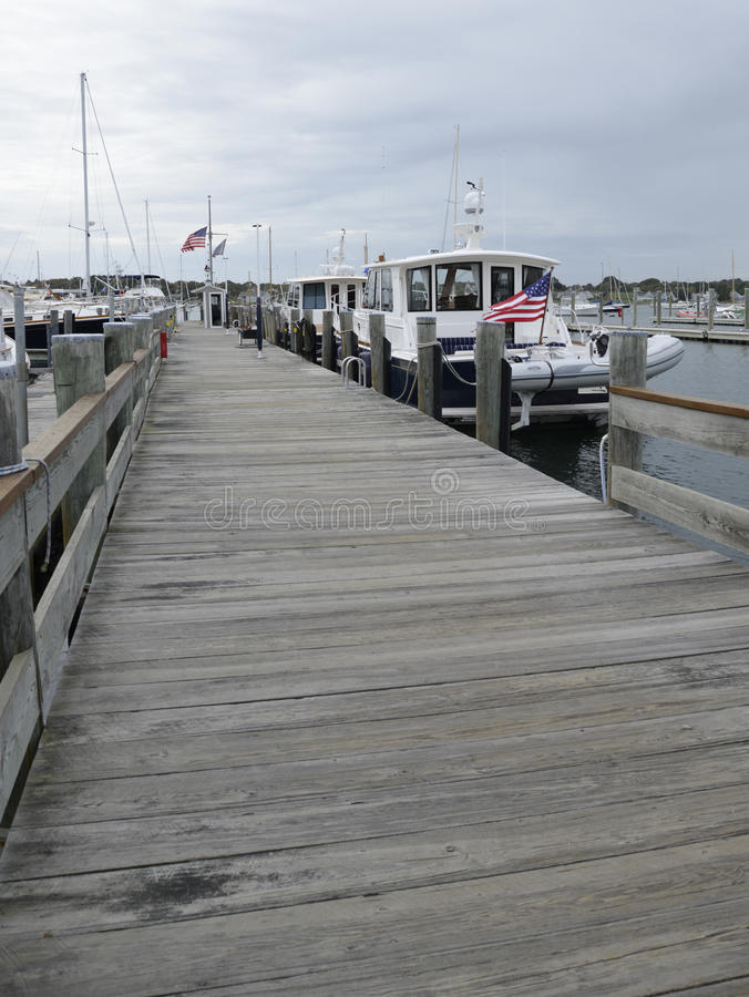 Angekoppelte Boote im Hafen in Stonington Connecticut lizenzfreies stockfoto