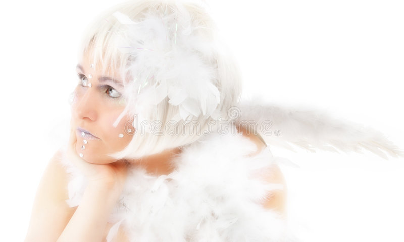 Download Angel stock image. Image of woman, feather, feathers, people - 1750887