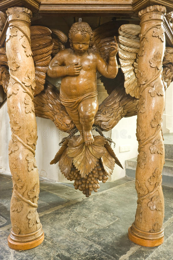 Angel on a 17th. century pulpit