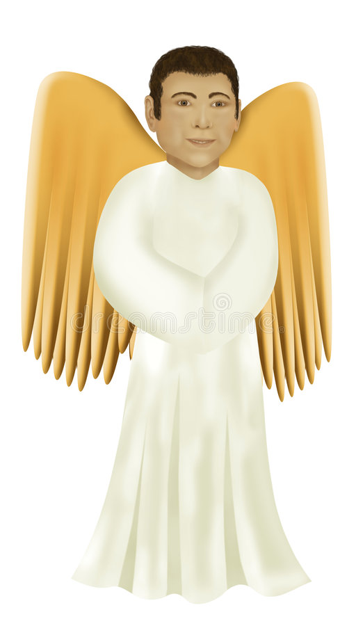 Download Angel stock illustration. Image of salvation, spirit, isolated - 1891486