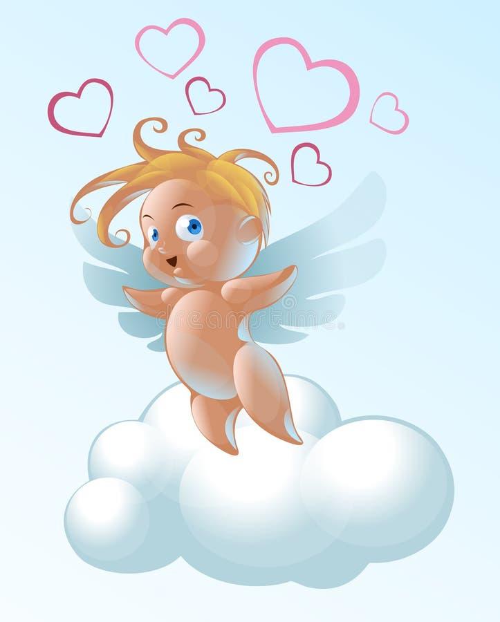Download Angel stock vector. Illustration of flight, drawn, emotions - 19406040
