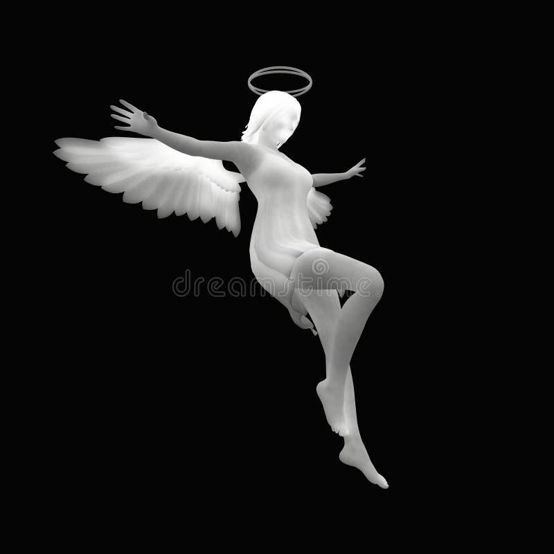 Download Angel stock illustration. Image of background, black - 22310617