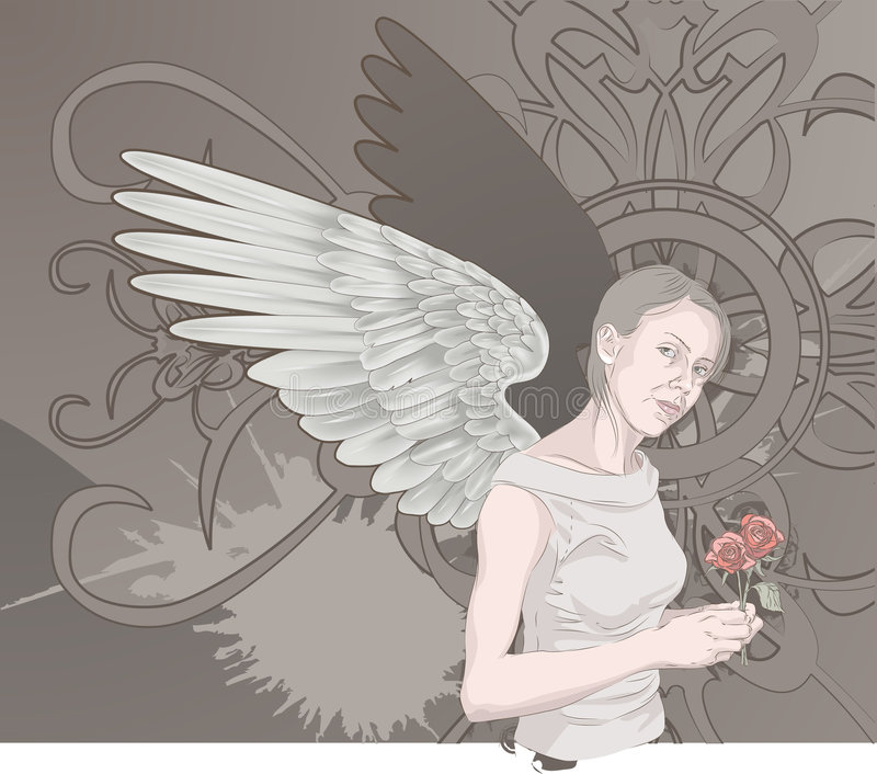 Angel royalty free illustration
