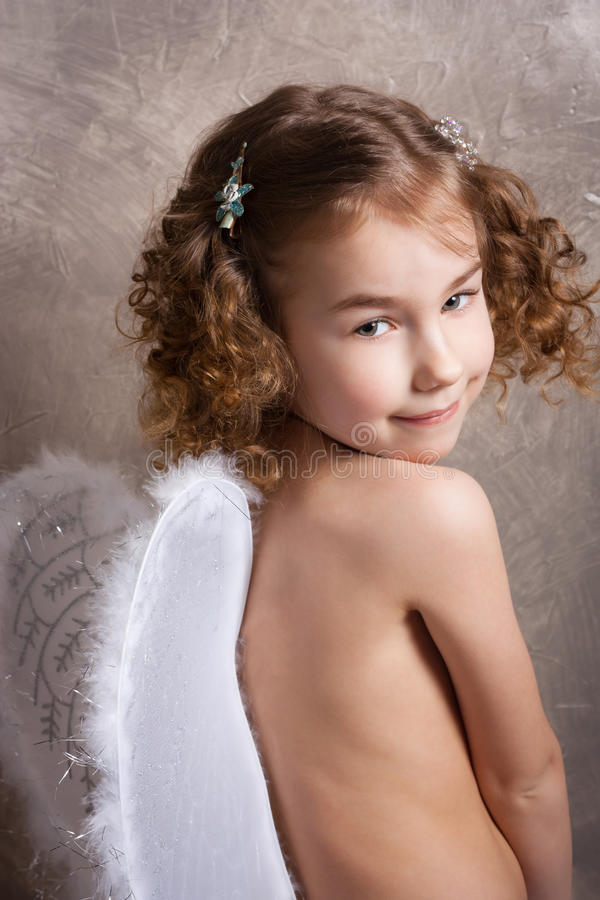Download Angel stock image. Image of hair, blond, child, smiley - 23949539