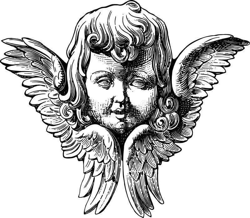 Download Angel stock vector. Image of feather, angel, cupid, handmade - 3298618