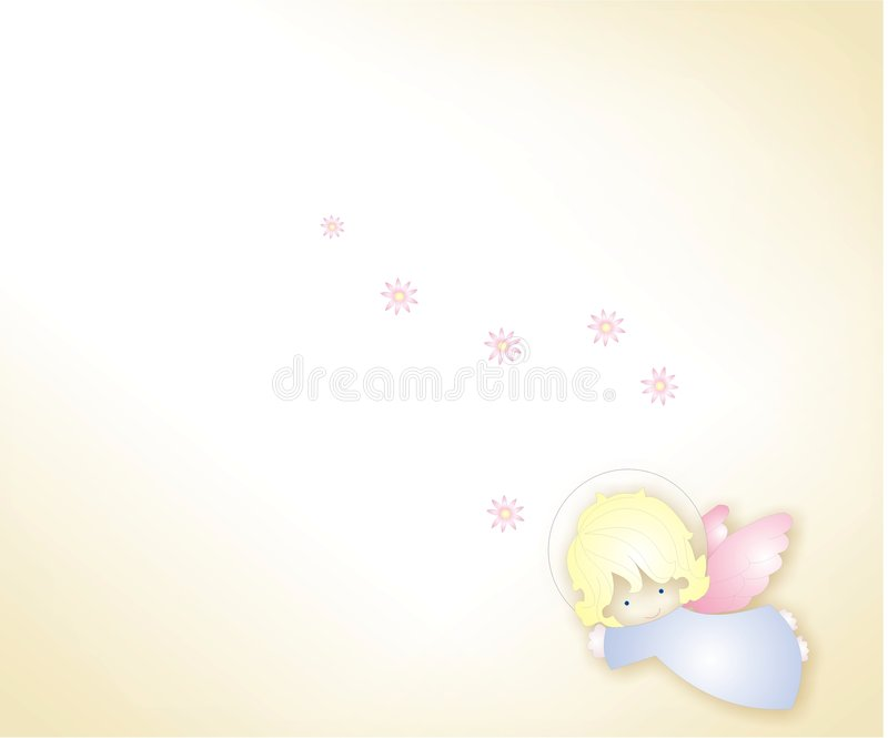 Angel. Background of an angel, with beige degrade royalty free illustration