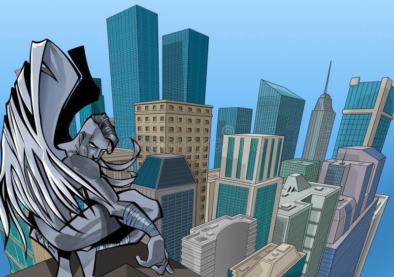 Download Angel stock illustration. Illustration of judgment, building - 632971