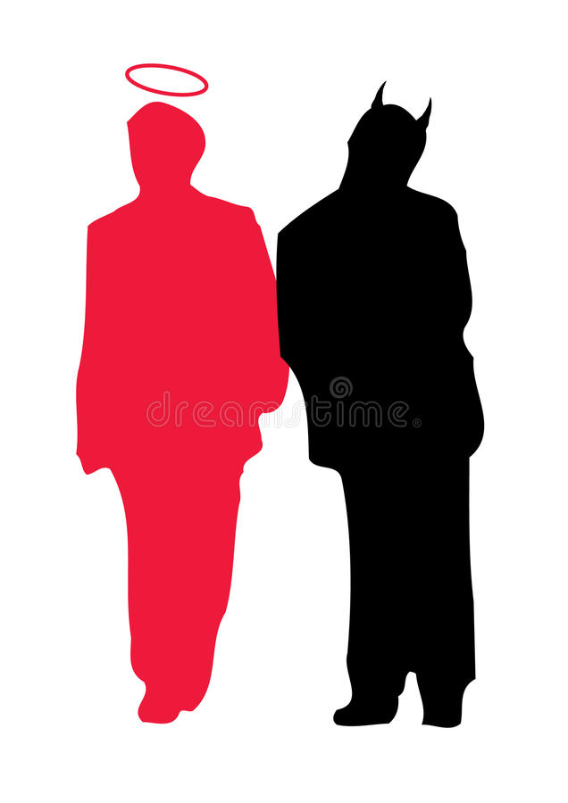 Free Angel And Devil - Two Characters Stock Images - 12220404