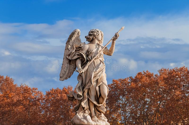 Autumn angel in Rome stock photos