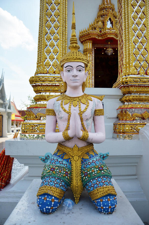 Angel at Bangpai Temple Nontaburi Thailand. This article on Thai temple art and architecture discusses Buddhist temples in Thailand. A typical Thai Wat, which is royalty free stock image