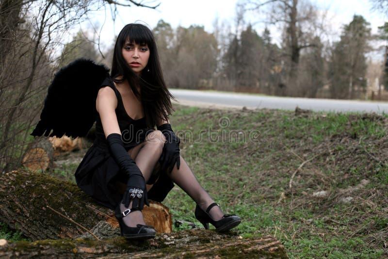 angel black στοκ εικόνες