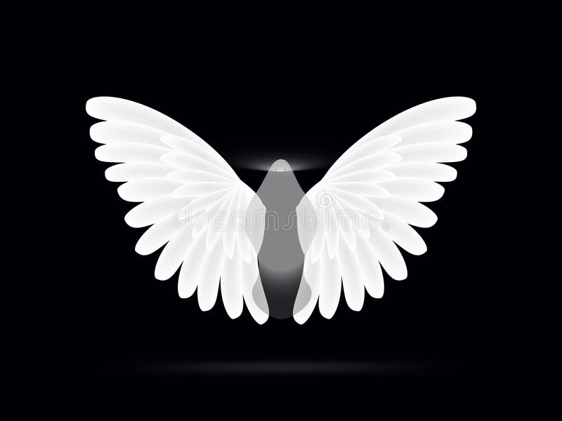 Angel on a black background royalty free stock photos
