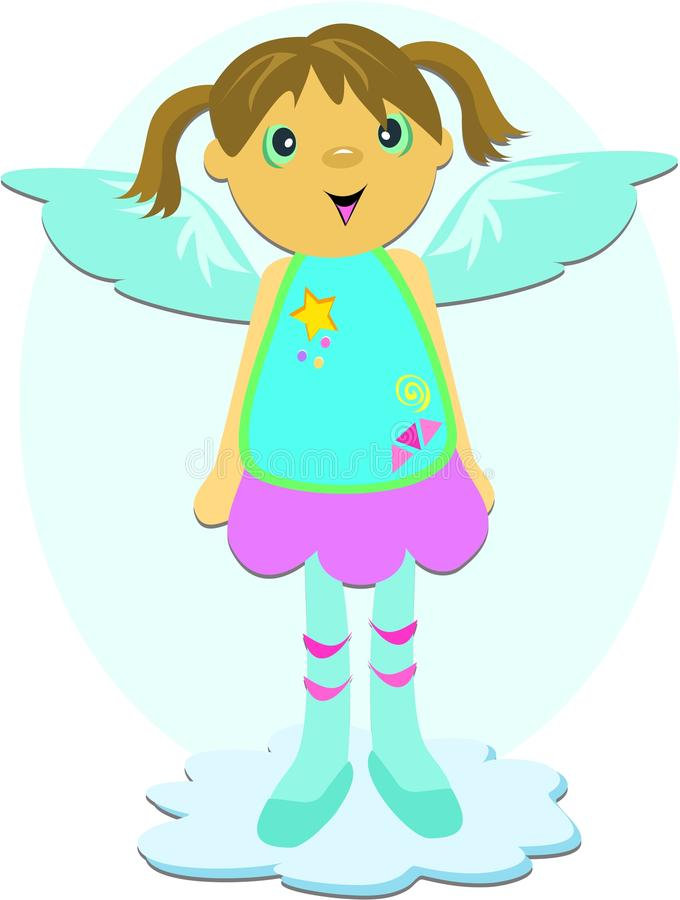 Download Angel with Blue Wings stock vector. Illustration of clothes - 11779746