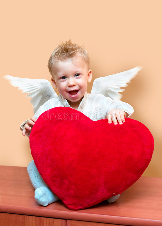 Download Angel boy stock image. Image of cute, holiday, romantic - 1722867